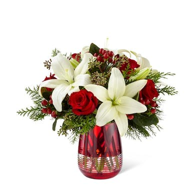 Festive Holiday Bouquet by Vera Wang - Boesen the Florist