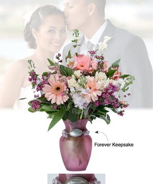 Vase of Life - Happy Anniversary - Pink - Boesen The Florist