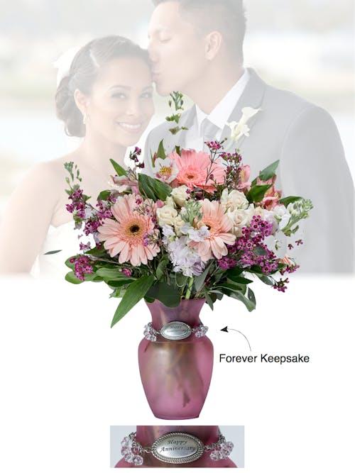 Vase of Life - Happy Anniversary - Pink