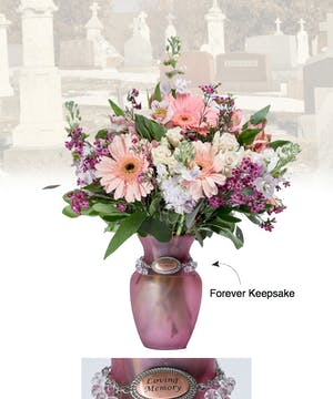 Vase of Life - Loving Memory - Pink Vase  - Boesen The Florist