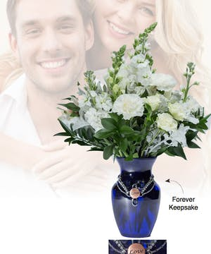 Vase of Life - Love- Blue Vase  - Boesen The Florist