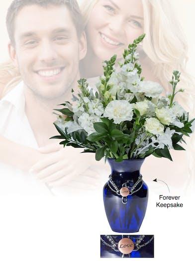 Vase of Life - Love- Blue Vase  - Boesen The Florist