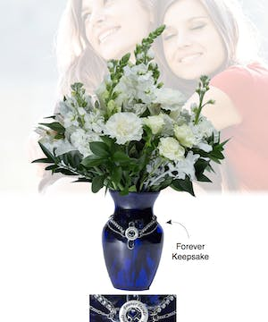 Vase of Life - Forever Friends - Blue Vase  - Boesen The Florist