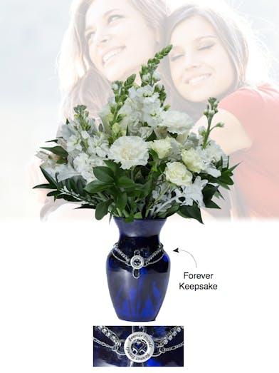 Vase of Life - Forever Friends - Blue Vase  - Boesen The Florist