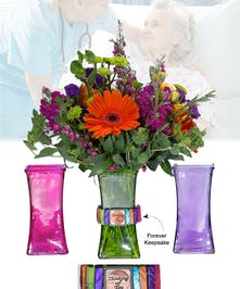 Vase of Life - Thinking of you - Multi Colored Vase  - Boesen The Florist
