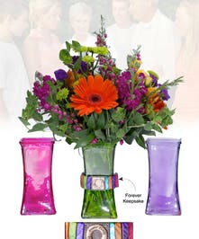 Vase of Life - Forever Family - Multi Colored Vase  - Boesen The Florist