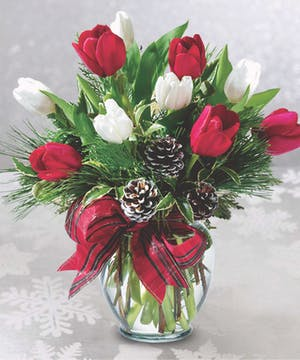 It's always time for tulips! Spread some holiday cheer with these special stems