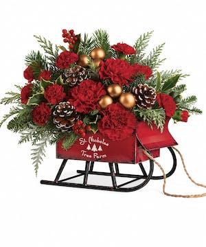 Vintage Sleigh Bouquet - Boesen the Florist