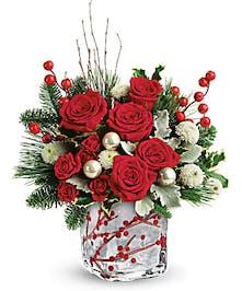 Add seasonal magic with a bold holiday bouquet!