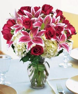 Lillies and Roses For A BIG, BEAUTIFUL Arrangement