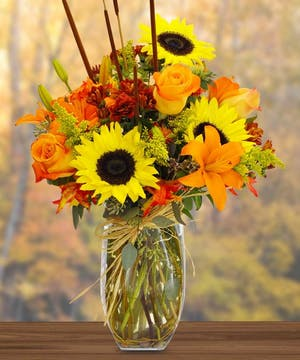 These autumn flowers are sure to light up any room with their bright, warm colors!