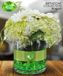 Peridot is the gemstone for August and symbolizes strength