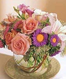 Elegant Bubble Bowl of Choice Flowers