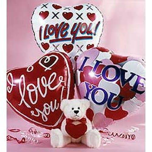 Bear & Balloon Bouquet