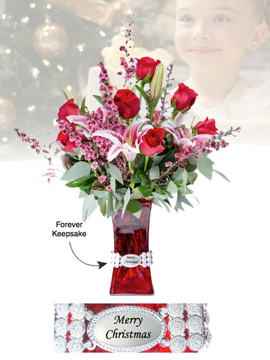 Vase of Life - Merry Christmas from Boesen The Florist