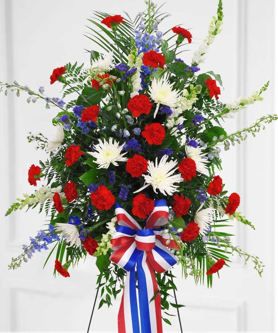 Old Glory Sympathy Tributes Boesen The Florist Des Moines Iowa
