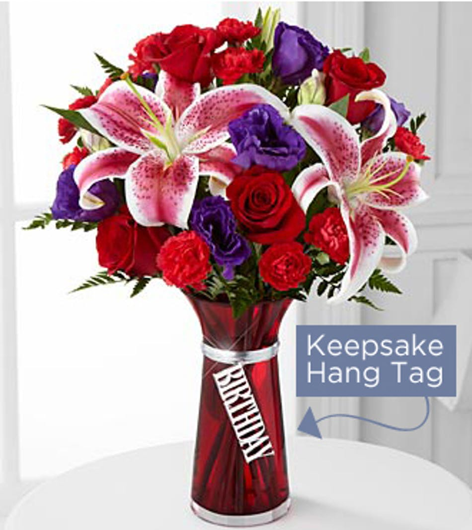 Birthday wishes birthday ideas gifts spring bosen florist birthday wishes bouquet is bursting with blooming color and beauty to celebrate your special recipients big izmirmasajfo Image collections