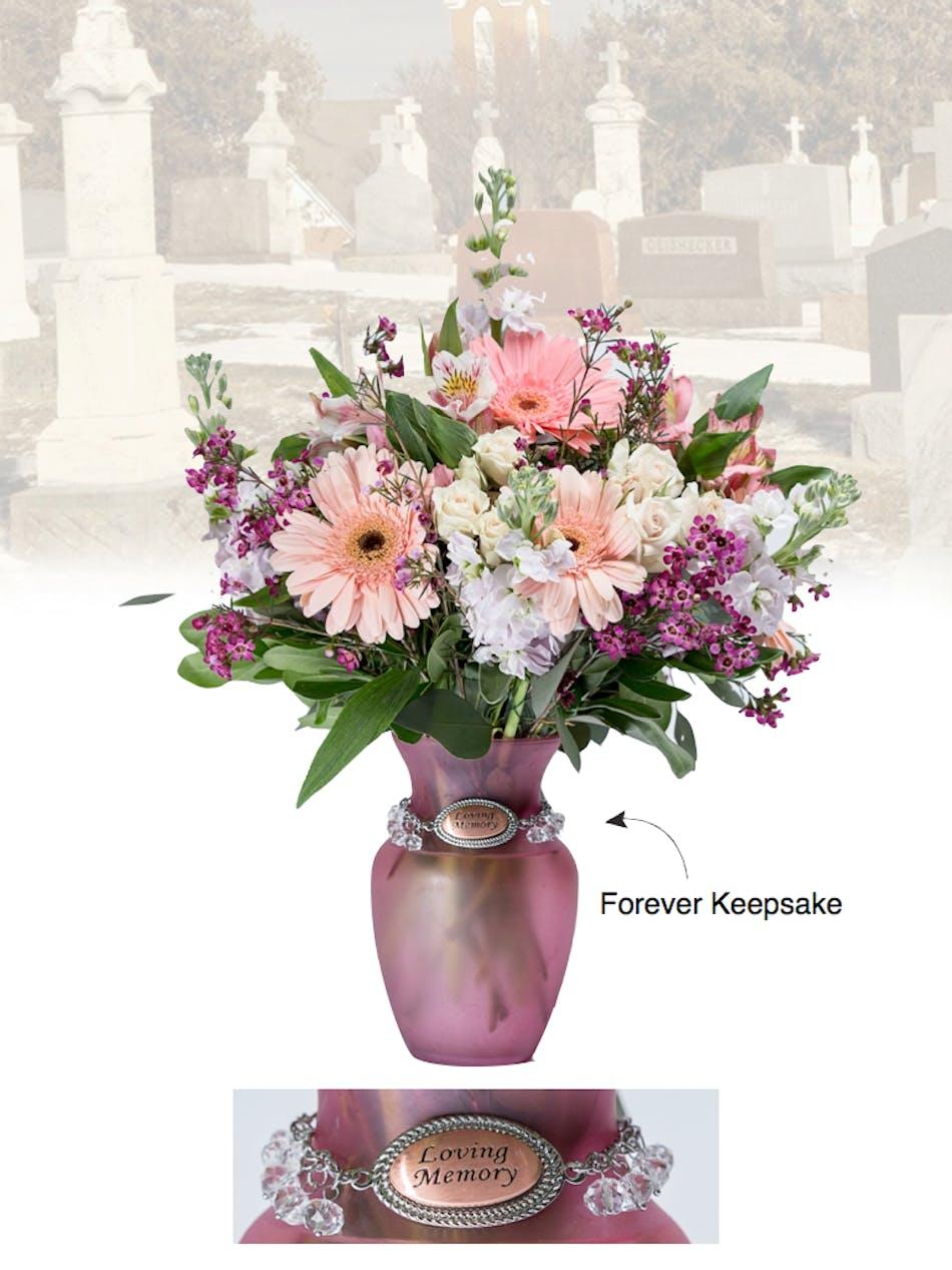 Vase Of Life Loving Memory Pink Vase Boesen The Florist