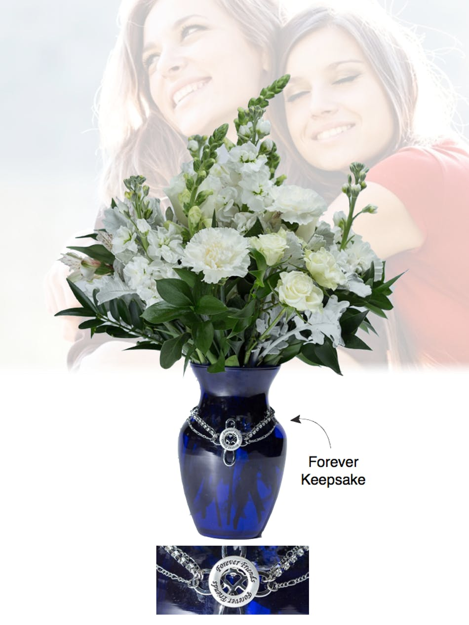 Of life forever friends blue vase boesen the florist vase of life forever friends blue vase boesen the florist reviewsmspy