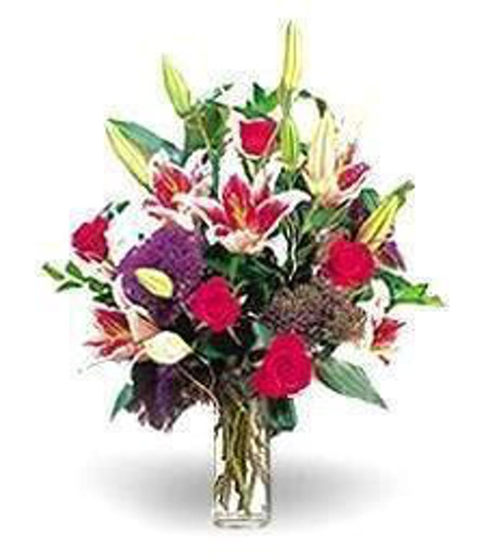 Fragrant Explosion Roses Lilies More Boesen The Florist