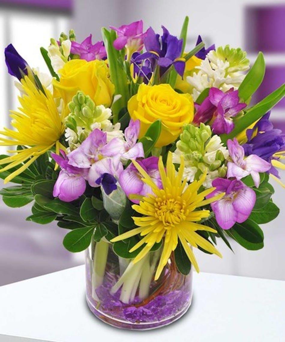 Easter Flowers Wedding: PURPLE MOUNTAIN MAJESTY- Bosen The Florist PURPLE