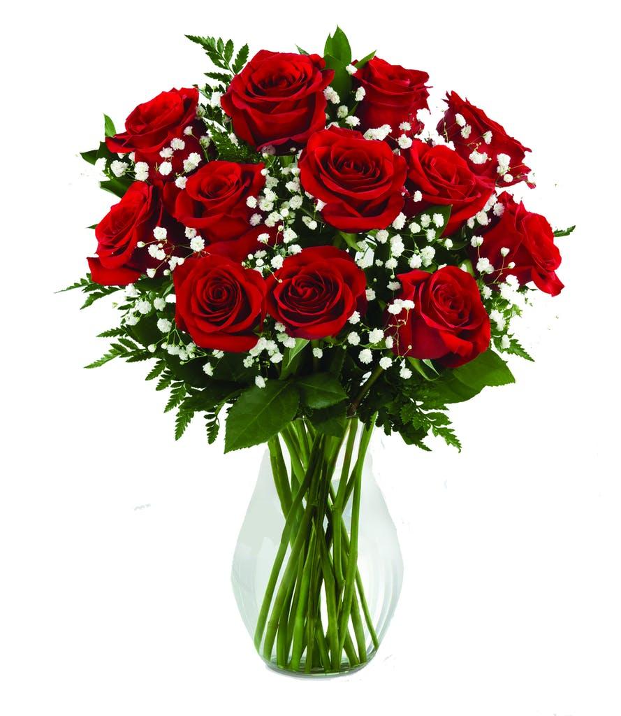 Dozen Roses in a Vase - Valentine\u0027s Day Flowers - Boesen the florist - Des Moines - Iowa  sc 1 st  Boesen The Florist & Dozen Roses in a Vase - Valentine\u0027s Day Flowers - Boesen the florist ...