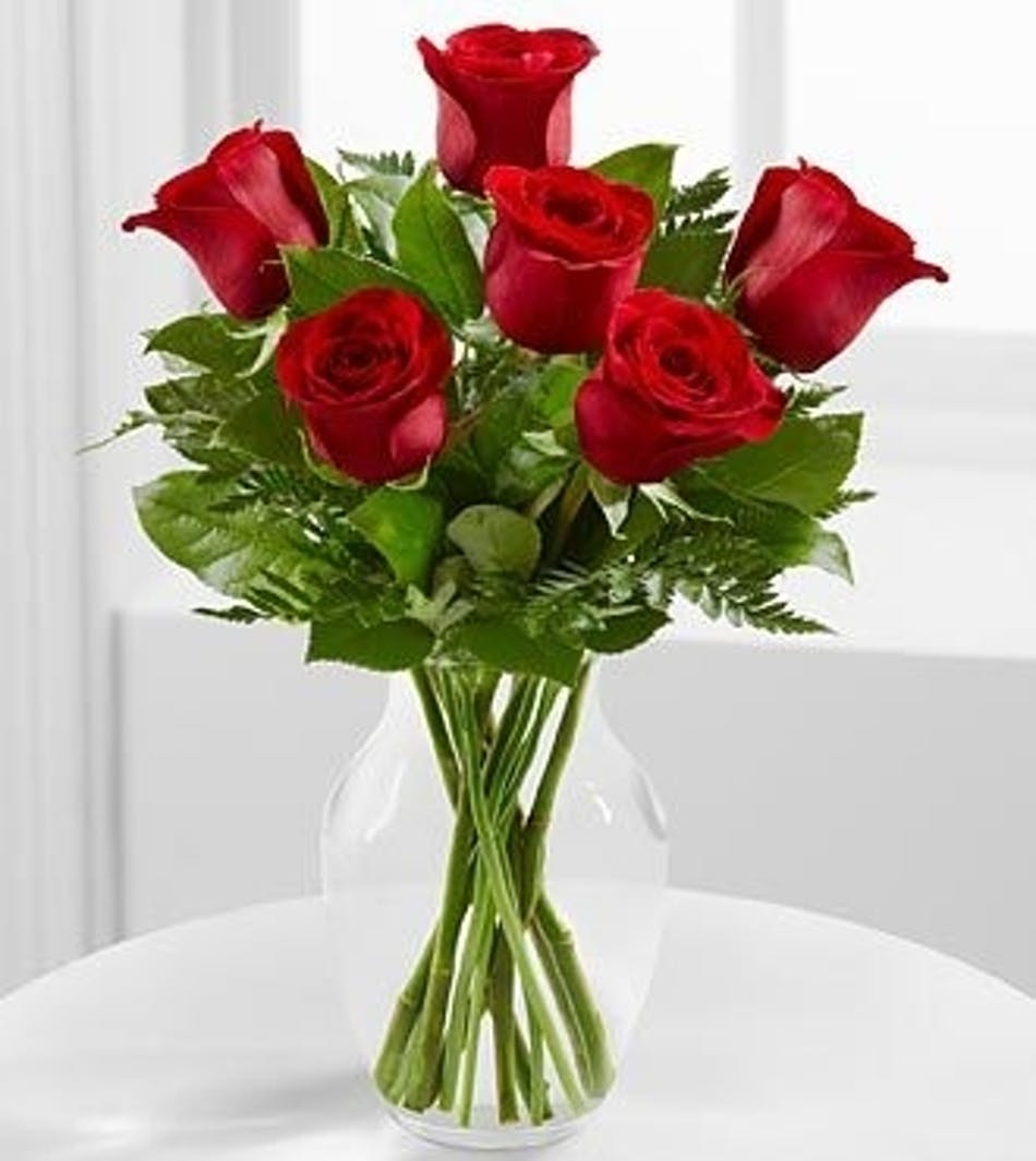 Six Roses Any Color - Valentine\'s Day Flowers - Boesen the florist ...