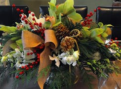 A beautiful autumn-themed arrangement